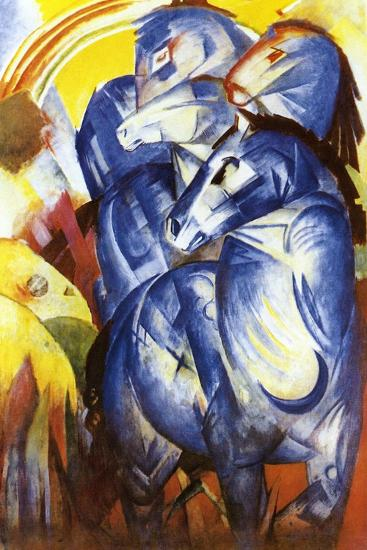 A Tower of Blue Horses, 1913-Franz Marc-Giclee Print