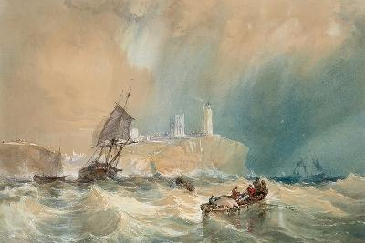 A Trading Brig Running Out of Tynemouth-John Wilson Carmichael-Giclee Print