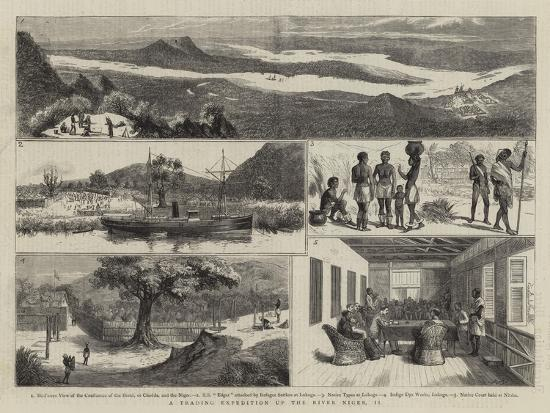 A Trading Expedition Up the River Niger, II--Giclee Print