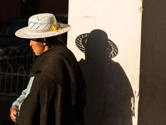 A Traditional Bolivian Woman in the City of Potosi-Alex Saberi-Photographic Print