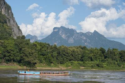 A Traditional Cruise Boat on the Mekong River-Michael Melford-Photographic Print