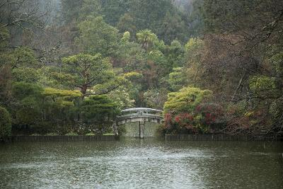 A Traditional Wooden Footbridge in a Rainstorm at Ryoanji Temple-Macduff Everton-Photographic Print