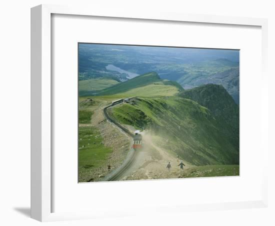 A Train Carrying Tourists Chugs up Snowdon Mountain in Wales-Joel Sartore-Framed Photographic Print