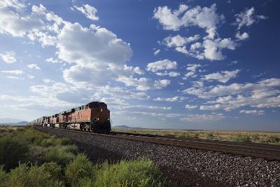A Train Crossing the Landscape-John Burcham-Photographic Print