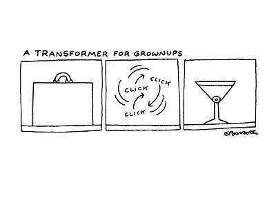 A Transformer for Grownups - New Yorker Cartoon-Charles Barsotti-Premium Giclee Print