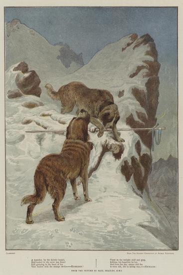 A Traveller, by the Faithful Hound-Basil Bradley-Giclee Print