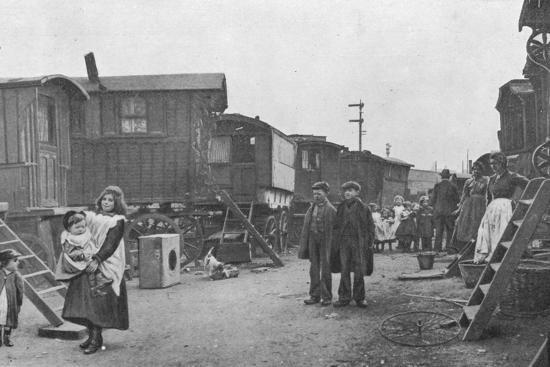 A travellers' encampment, Battersea, London, c1903 (1903)-Unknown-Photographic Print