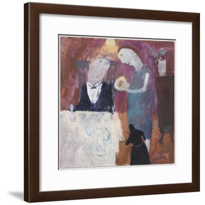 A Treat for Godfrey, 2008-Susan Bower-Framed Giclee Print