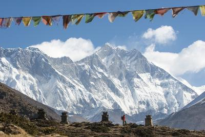 A Trekker on their Way to Everest Base Camp-Alex Treadway-Photographic Print