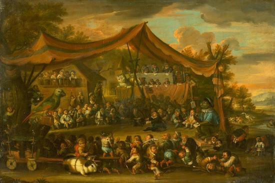 A Trial at Law Among Animals and Pygmies, Unknown-Faustino Bocchi or Boccasi-Giclee Print
