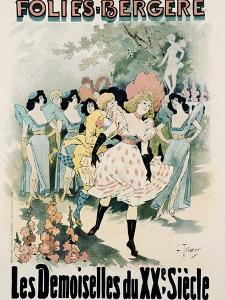 Folies-Bergere: Les Demoiselles Du Vingtieme Siecle Poster by A. Trinquier-Trianon