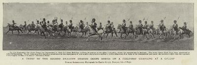 A Troop of the Second Dragoon Guards (Scots Greys) on a Field-Day Charging at a Gallop--Giclee Print