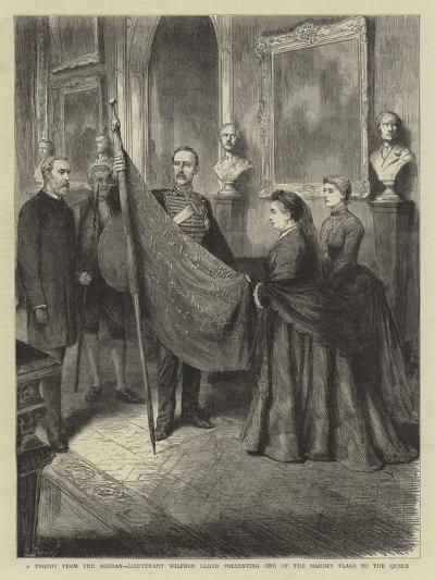 A Trophy from the Soudan, Lieutenant Wilford Lloyd Presenting One of the Mahdi's Flags to the Queen--Giclee Print