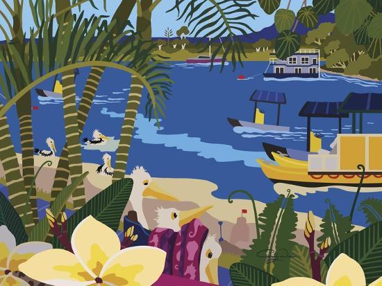 A Tropical Summer Day-Cindy Wider-Giclee Print