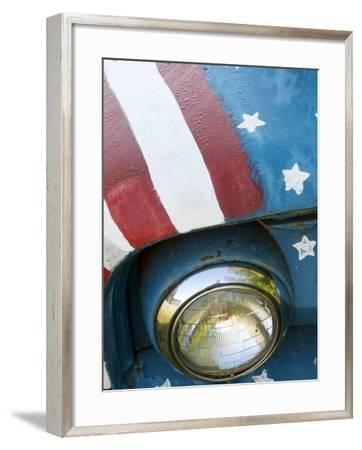 A Truck Painted with the Us Flag on a Roadside in New Hampshire, Usa-Dan Bannister-Framed Photographic Print