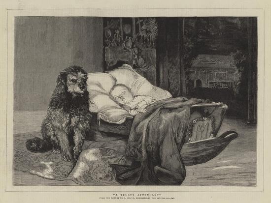 A Trusty Attendant--Giclee Print