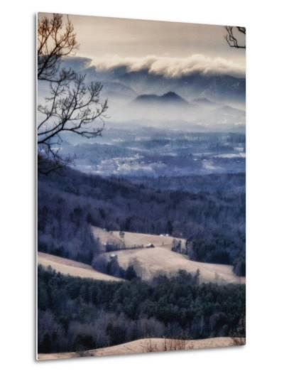 A Tsunami of Clouds Tumbles over the Blue Ridge Mountains Down to the Farming Valley Below-Amy White Al Petteway-Metal Print