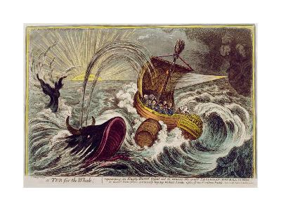 A Tub for the Whale! Published by Hannah Humphrey in 1806-James Gillray-Giclee Print