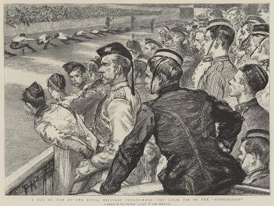 A Tug of War at the Royal Military Tournament, the Final Tie of the Auxiliaries-Charles Paul Renouard-Giclee Print
