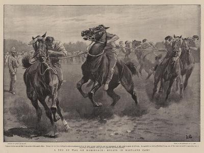 A Tug of War on Horseback, Sports in Maitland Camp-John Charlton-Giclee Print
