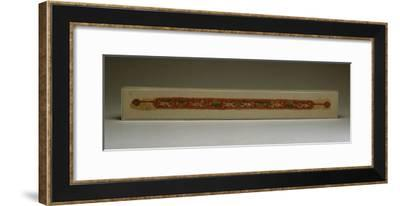 A Tunic Strip Depicting Winged Erotes, Coptic Textile, Circa 5th Century A.D--Framed Giclee Print