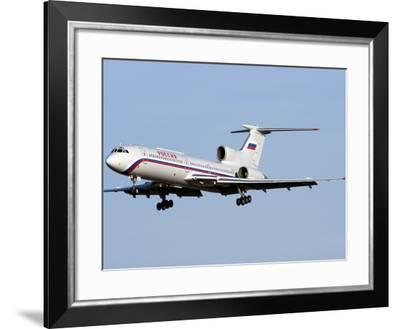 A Tupolev Tu-154M On Final Approach in Bulgaria-Stocktrek Images-Framed Photographic Print