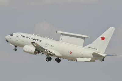 A Turkish Air Force Boeing 737 Aew Taking Off-Stocktrek Images-Photographic Print