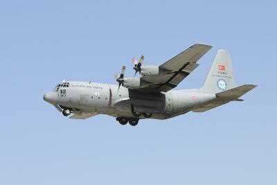 A Turkish Air Force C-130 in Flight over Konya, Turkey-Stocktrek Images-Photographic Print