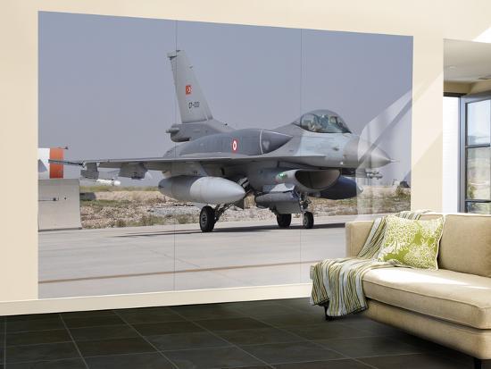 A Turkish Air Force F-16C Block 52+ at Konya Air Base, Turkey-Stocktrek Images-Wall Mural – Large