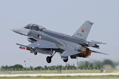 A Turkish Air Force F-16D Block 50+ Taking Off from Konya Air Base-Stocktrek Images-Photographic Print