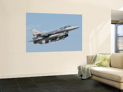 A Turkish-Built F-16 in Flight at the Izmir Air Show in Turkey-Stocktrek Images-Wall Mural