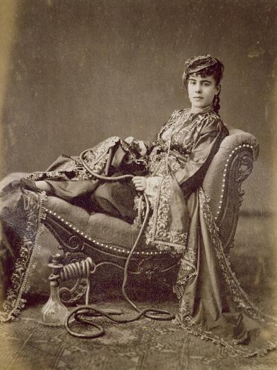A Turkish Lady Seated, C.1880-Jean-Pascal Sebah-Giclee Print
