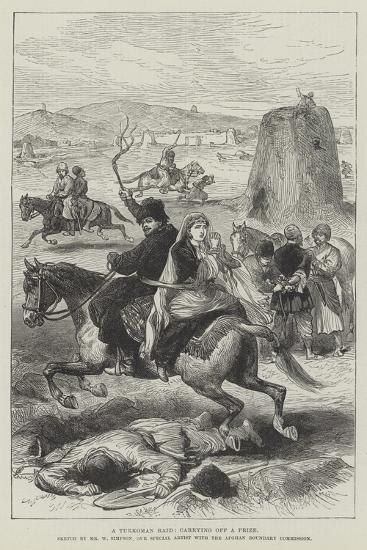 A Turkoman Raid, Carrying Off a Prize-William 'Crimea' Simpson-Giclee Print