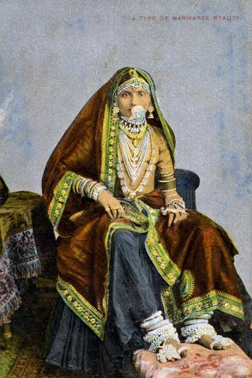 A Type of Marwaree Beauty, India, Early 20th Century--Giclee Print