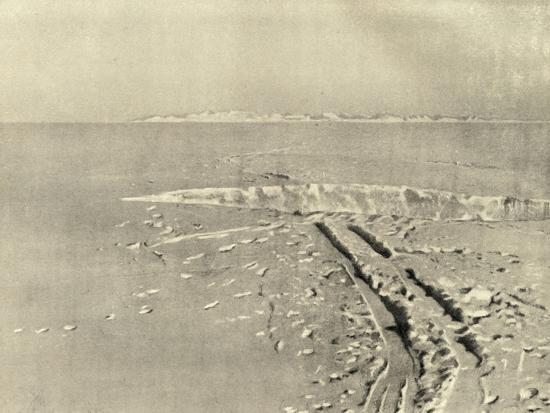 'A Typical Crevasse on Level Surface', c1908, (1909)-Unknown-Photographic Print
