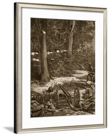 A Typical Fight in the Forest--Framed Giclee Print