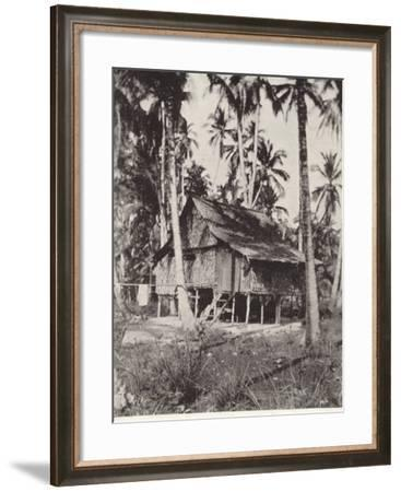 A Typical Malay Dwelling--Framed Photographic Print