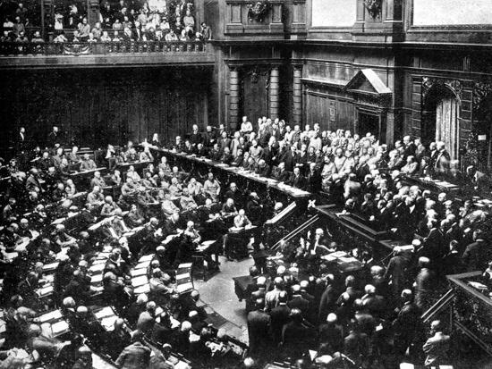 A Typical Sitting of the Reichstag, Parliament of the German Republic, 1926--Giclee Print