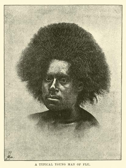 A Typical Young Man of Fiji--Giclee Print