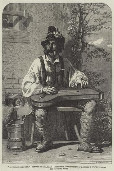A Tyrolese Composer-Carl Haag-Giclee Print