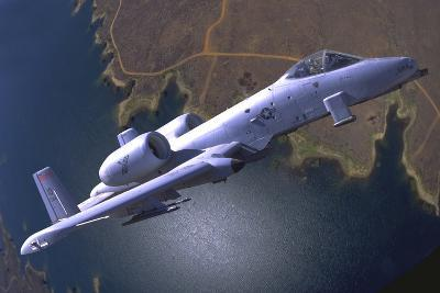 A U.S. Air Force A-10 Thunderbolt During a Demo Flight-Stocktrek Images-Photographic Print