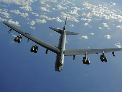 A U.S. Air Force B-52 Stratofortress Flies a Mission over the Pacific Ocean-Stocktrek Images-Photographic Print
