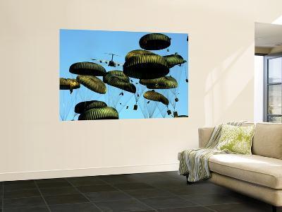 A U.S. Air Force C-17 Globemaster Iii Airdrops Pallets to Port-Au-Prince, Haiti-Stocktrek Images-Wall Mural