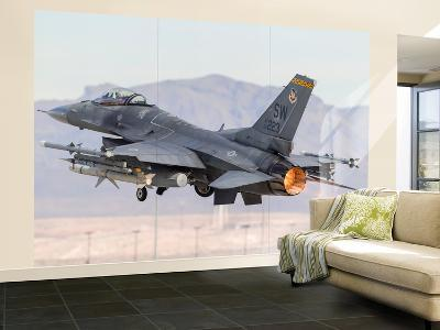 A U.S. Air Force F-16C Fighting Falcon Taking Off-Stocktrek Images-Wall Mural – Large