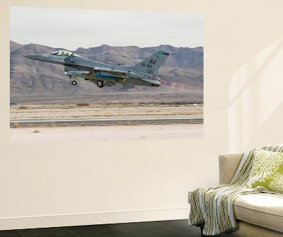 A U.S. Air Force F-16C Fighting Falcon Taking Off-Stocktrek Images-Wall Mural