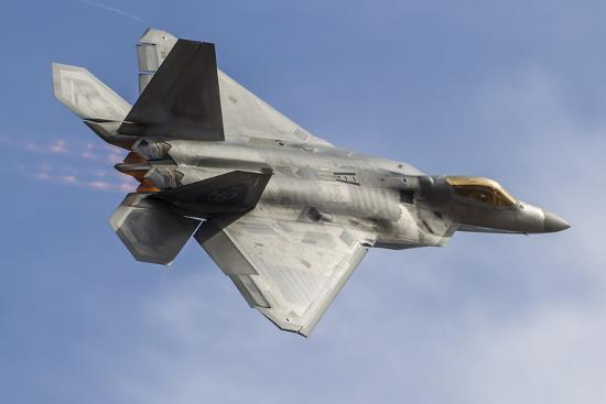 A U.S. Air Force F-22 Raptor Makes a Fast Flyby-Stocktrek Images-Photographic Print