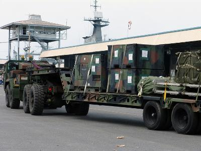 A U.S. Marine Corps MK48 Logistics Vehicle System-Stocktrek Images-Photographic Print