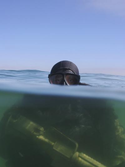 A U.S. Navy SEAL Combat Swimmer-Stocktrek Images-Photographic Print