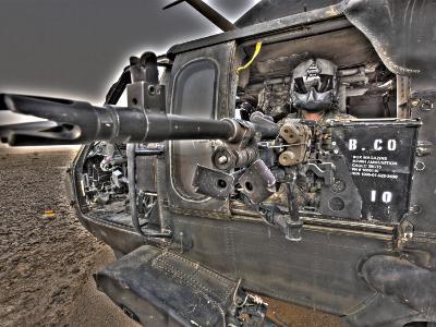 A UH-60 Black Hawk Door Gunner Manning a M240G Medium Machine Gun--Photographic Print