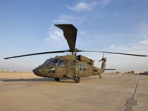 A UH-60 Black Hawk Helicopter at Camp Speicher, Iraq
